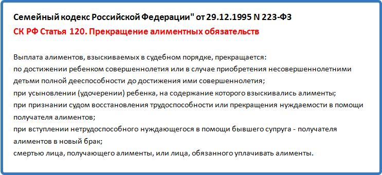 семейный кодекс ст 120